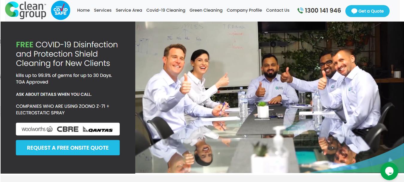 Clean Group New Webiste